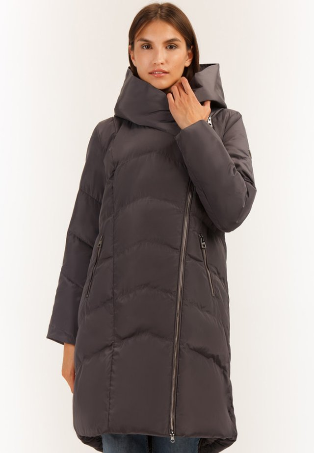 MIT KUSCHELIGER KAPUZE - Winter coat - graphite