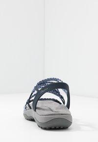 Skechers Wide Fit - REGGAE SLIM - Sandals - navy - 5