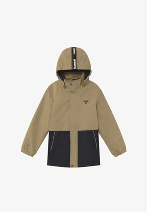 MARK - Outdoor jacket - beige/dark blue