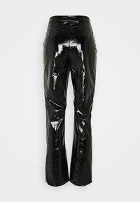 Missguided Petite - SHINY TROUSER - Kangashousut - black - 1