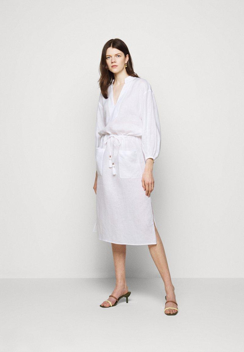 Tory Burch - MIDI TUNIC DRESS - Day dress - white
