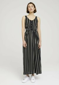 TOM TAILOR DENIM - Maxi dress - black beige vertical stripe - 0