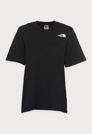 REDBOX TEE - T-shirt print - black-arrowwood/yellow