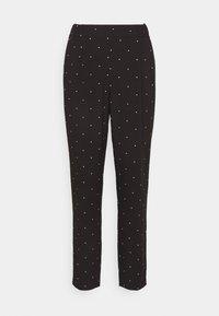 Vero Moda - VMMORGAN PANT - Pantaloni - black/white - 4