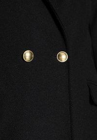 Abercrombie & Fitch - TAILORED SLIM DAD COAT - Classic coat - black - 4