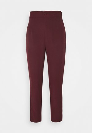 TAILORED CIGARETTE TROUSER - Trousers - plum