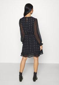 Miss Selfridge - MIXED SPOT DRESS - Day dress - black - 2