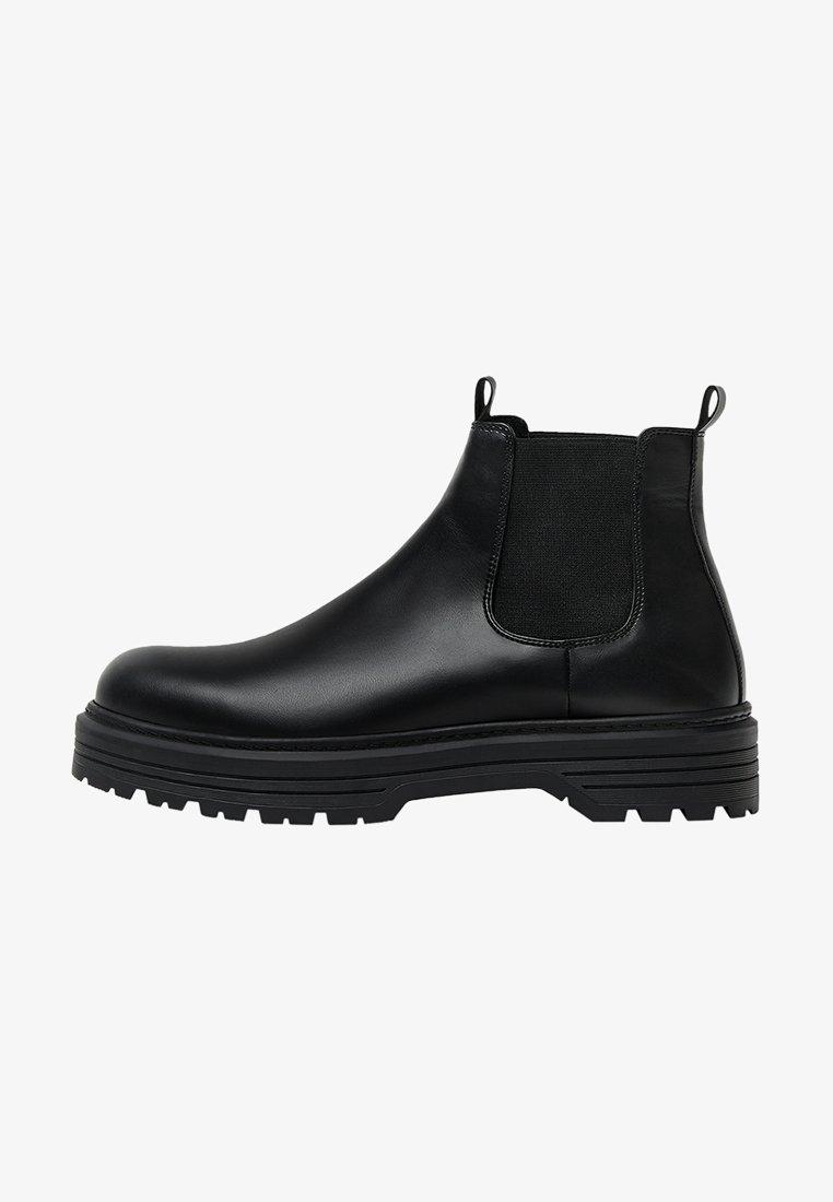 Bershka - Kotníkové boty - black