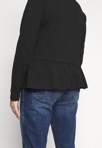 Pieces Curve - PCSERENE ROLL NECK - Long sleeved top - black - 5