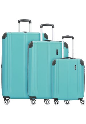 CITY 4-ROLLEN KOFFERSET 3TLG. - Luggage set - petrol