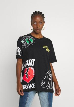 MULTI BACK TEE - Print T-shirt - black