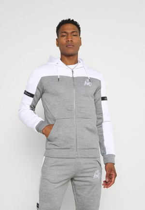 VESY MARL TAPE HOOD - Zip-up hoodie - grey
