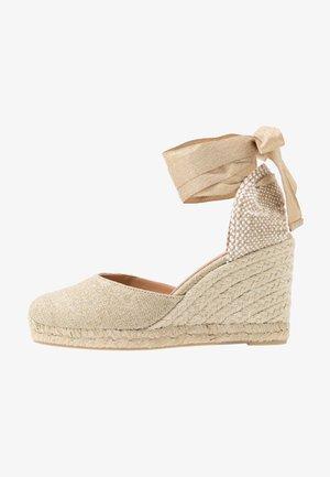 CARINA  - High heeled sandals - oro claro