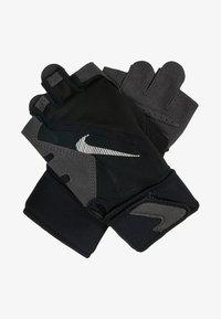 PREMIUM FITNESS GLOVE - Fingerless gloves - black/volt/white
