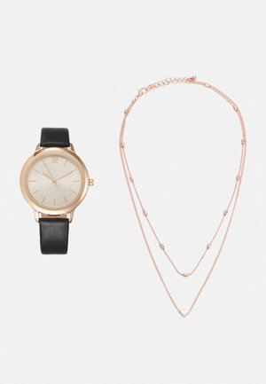 SET - Montre - black/rose gold-coloured