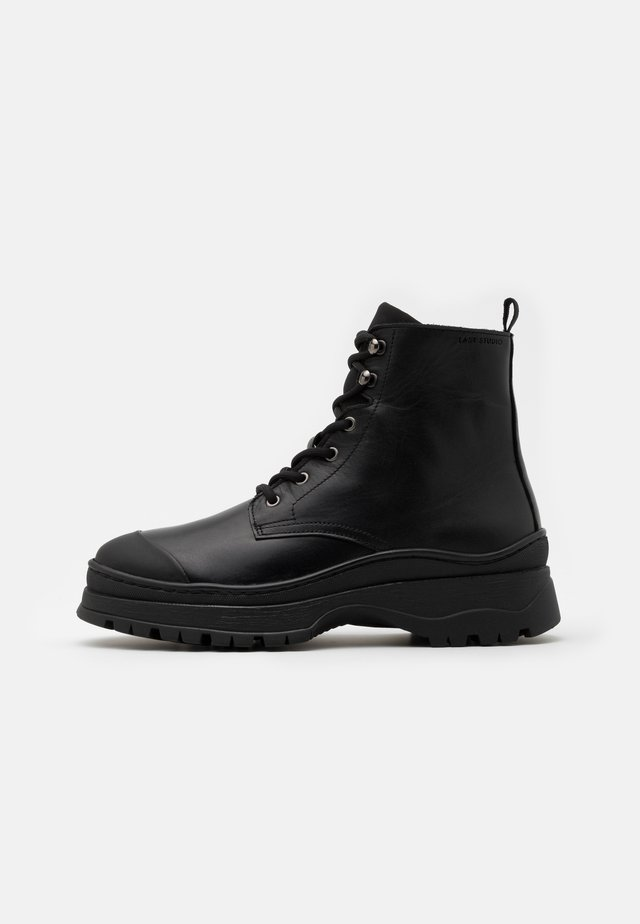 JERVIS  - Lace-up ankle boots - black