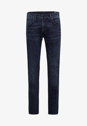 JOHN - Slim fit jeans - blue black used baffies