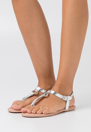 KONA THONG - T-bar sandals - silver