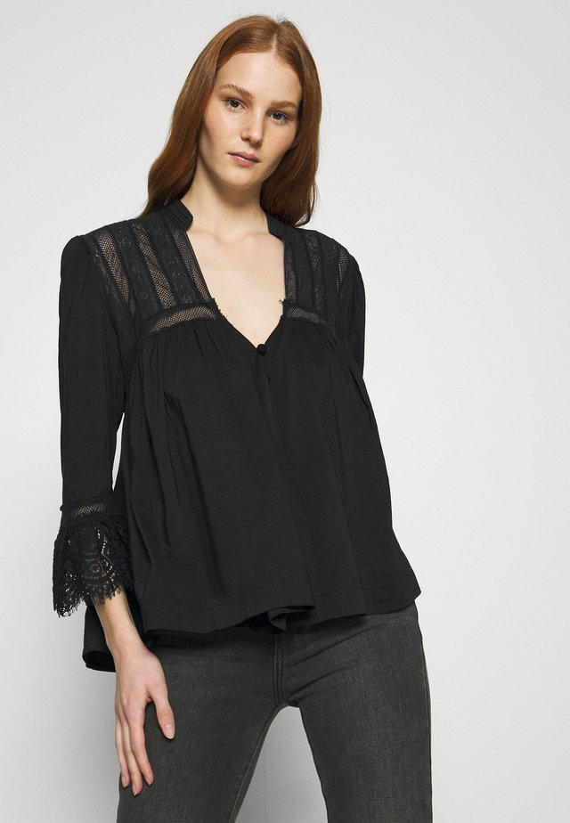 ESME BUTTONDOWN - Tunica - black