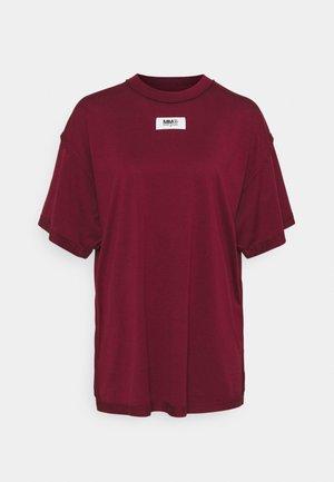 Jednoduché triko - burgundy