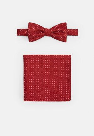 SLHLANDON BOWTIE GIFTBOX SET - Pocket square - bright red