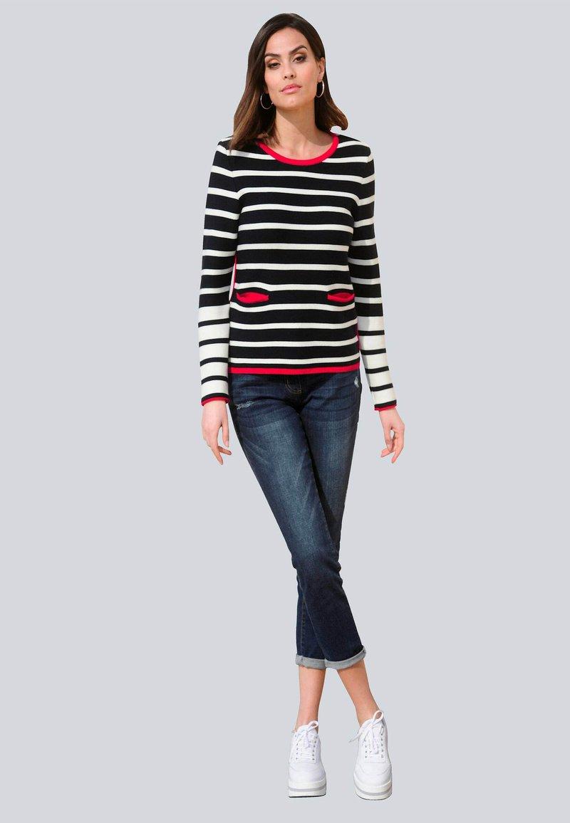 Alba Moda - Long sleeved top - marineblau,weiß,rot