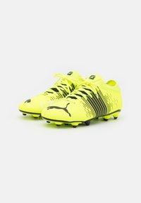 Puma - FUTURE Z 4.1 FG/AG JR UNISEX - Moulded stud football boots - yellow alert/black/white - 1