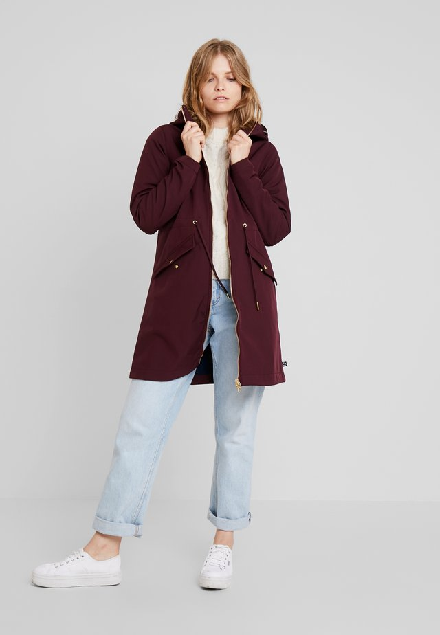 MARIANNE - Waterproof jacket - darkk bordeaux