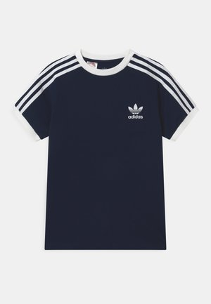 STRIPES TEE - T-shirt z nadrukiem - collegiate navy/white