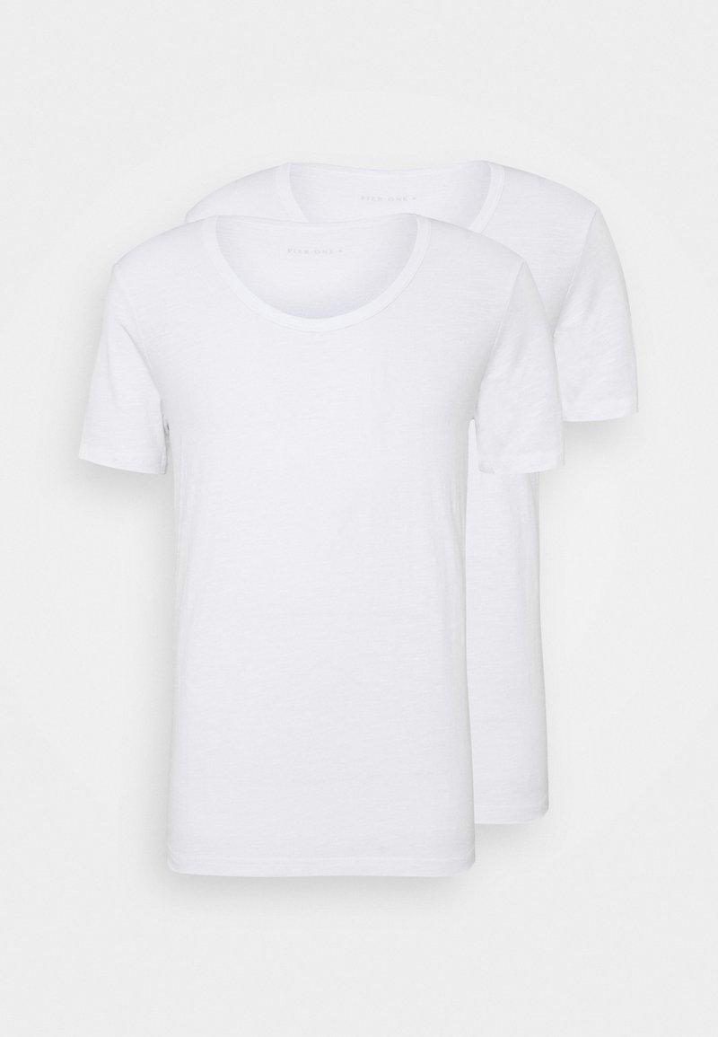 Pier One - 2 PACK  - T-shirt basic - white