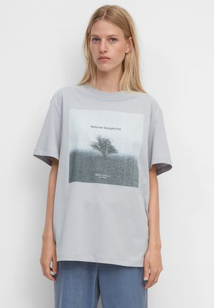 Print T-shirt - grey horizon