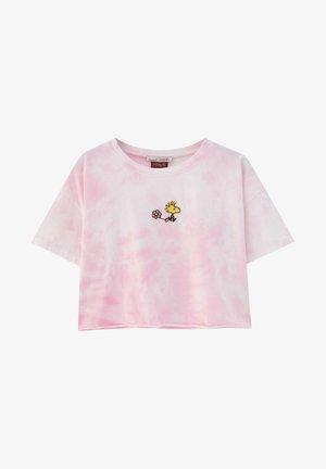 PEANUTS - Print T-shirt - rose