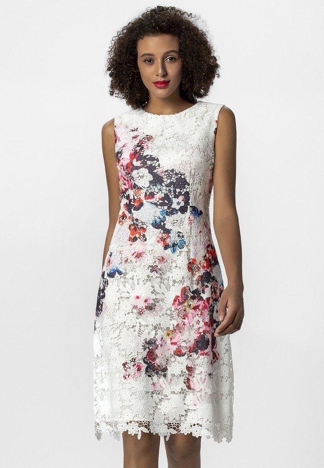 SPITZENKLEID - Korte jurk - cream/multicolor