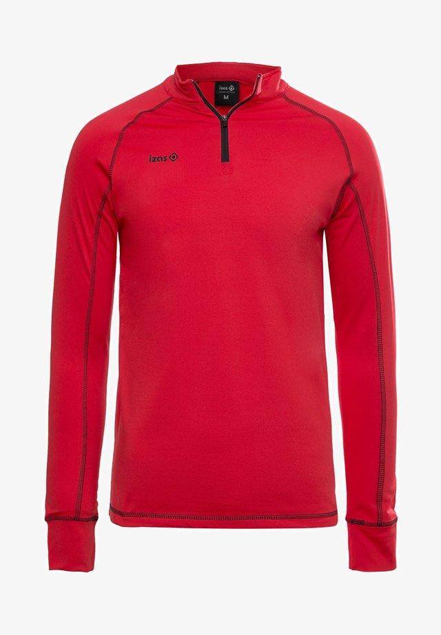 GORNER - Long sleeved top - red black