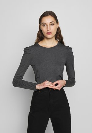LS ROUCHED PUFF SLEEVE THREADSOFT SOLID - Long sleeved top - oatmeal