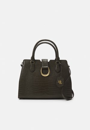 CITY SATCHEL MEDIUM - Handbag - deep olive