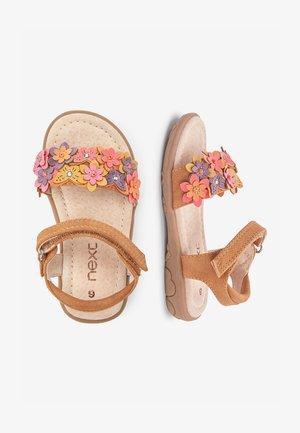 PINK 3D FLOWER SANDALS (YOUNGER) - Sandales de randonnée - brown
