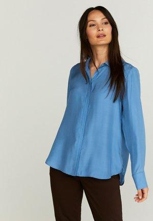 Button-down blouse - riviera blue