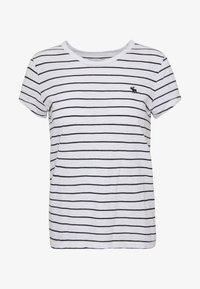 Abercrombie & Fitch - Print T-shirt - black and white - 4