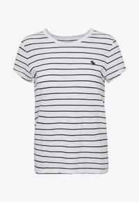 Print T-shirt - black and white