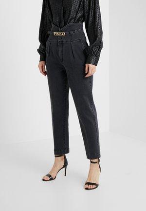 ARIEL BUSTIER COMFORT - Slim fit jeans - black