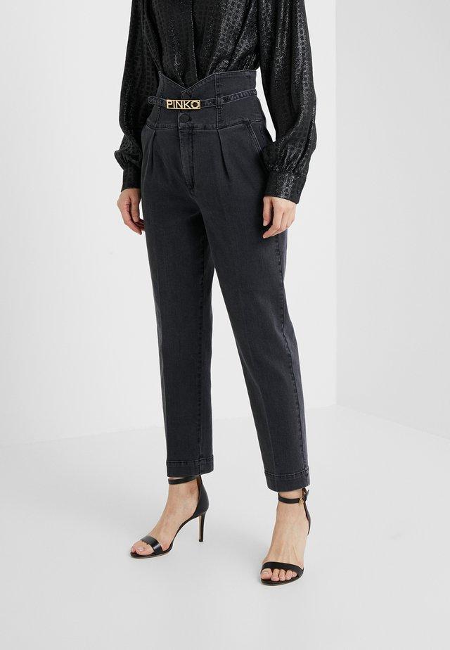 ARIEL BUSTIER COMFORT - Jeans slim fit - black