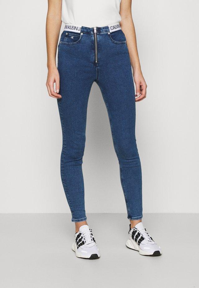 HIGH RISE SUPER SKINNY - Jeans Skinny Fit - dark blue