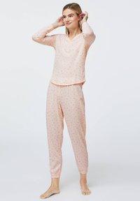 OYSHO - LONG-SLEEVE - Pyžamový top - rose - 1