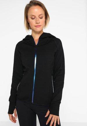 CORE GYM TECH PANEL  - Zip-up hoodie - black