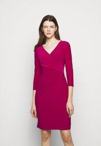 Lauren Ralph Lauren - MID WEIGHT DRESS - Shift dress - modern dahlia - 0