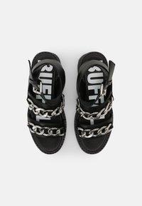 Buffalo - VEGAN ROCKET - Platform sandals - black - 4