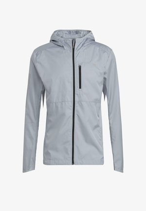 OWN THE RUN WIND RESPONSE RUNNING JACKET - Cortaviento - grey