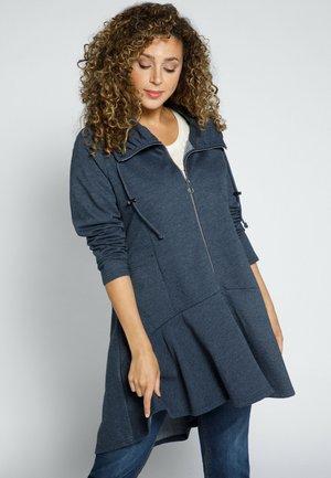 Zip-up sweatshirt - marine-melange