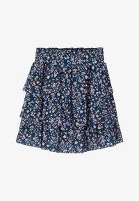 Name it - BLUMENPRINT  - A-line skirt - darkest spruce - 0